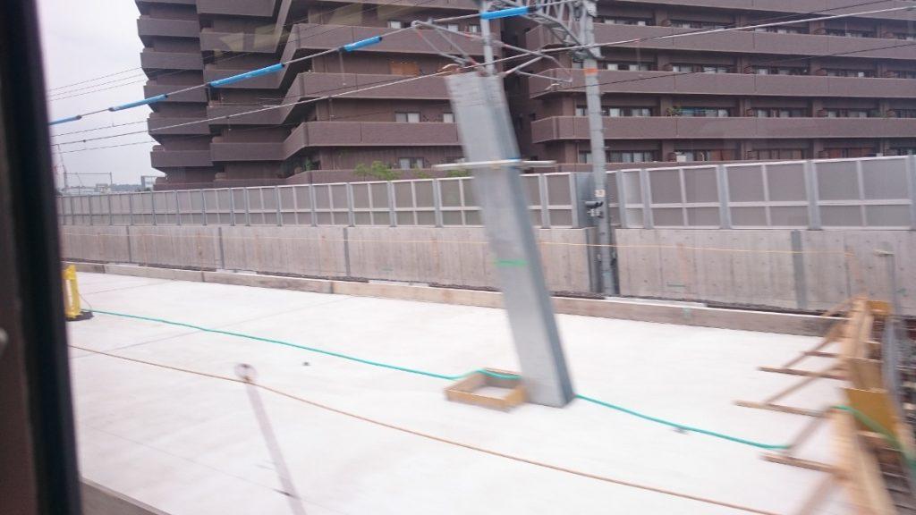 JR総持寺駅工事