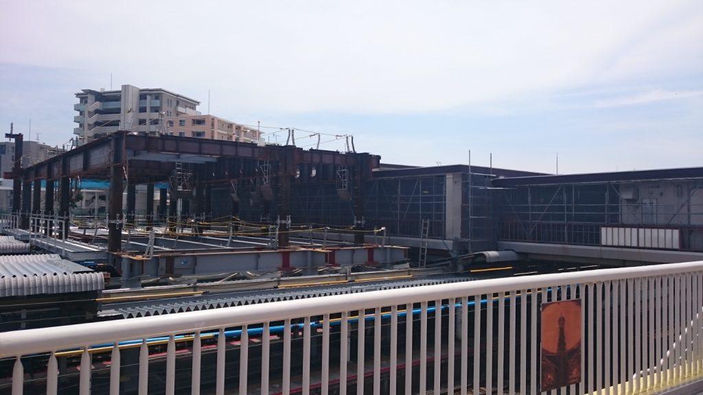 JR茨木駅 駅舎拡張工事進む